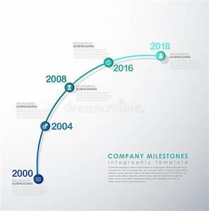 infographic startup milestones timeline vector template With startup milestone template