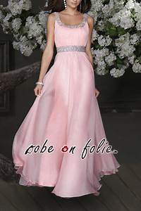 tres belle robe de soiree longue coralia en mousseline With robe temoin rose pale