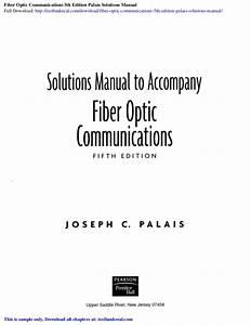 Fiber Optic Communications 5th Edition Palais Solutions Manual