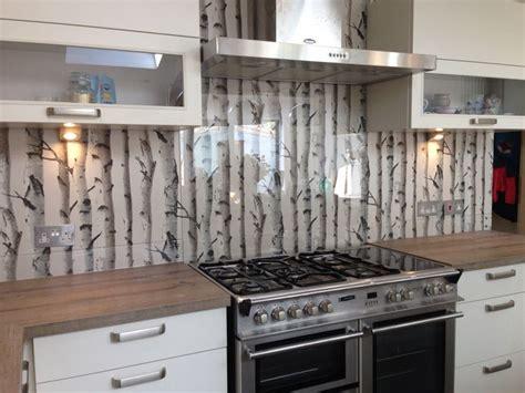 wallpaper kitchen backsplash ideas clear glass splashback with great effect wallpaper