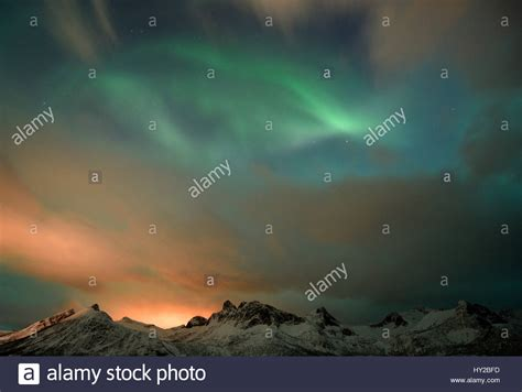 norway march northern lights senja norway 31st march 2017 the northern lights