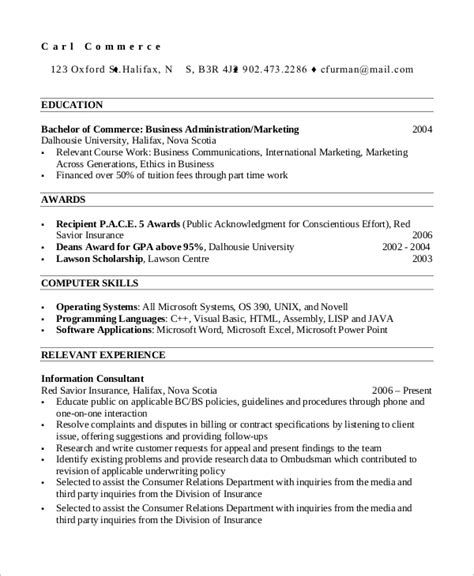 Chronological Resume Professional by Sle Professional Resume 7 Exles In Pdf
