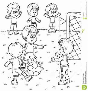 Children Playing Football Clipart Black And White ...