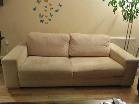 sofa seat cushions for sale 3 seats beige sofa for sale in swords dublin from luciale