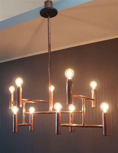vintage industrial copper pipe chandelier elegant dining