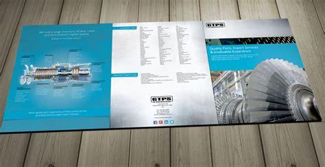 industrial machine parts large brochure design brochure