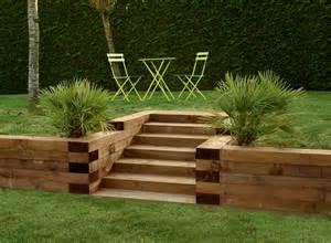 Chaise De Jardin Bois Et Fer by Traverses Paysag 232 Res En Bois Utilisez Les Traverses