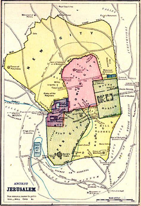 maps jerusalem