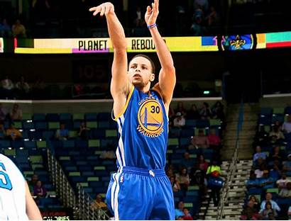 Curry Stephen Shooting Basketball Wallpapers Shot Jump
