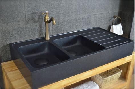egouttoir cuisine 120x60 évier granit noir de cuisine en 2 cuves