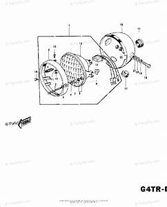 Kawasaki Motorcycle 1974 Oem Parts Diagram For Headlight