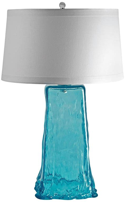 Aqua Glass Table Lamps
