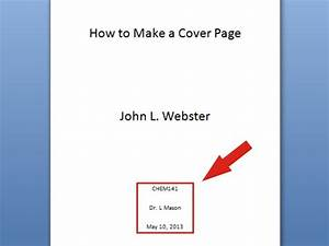 6 ways to make a cover page wikihow With how to make a cover sheet