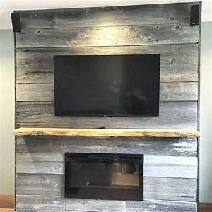 fireplace reno by a barnboardstorecom client they used With barn board mantel
