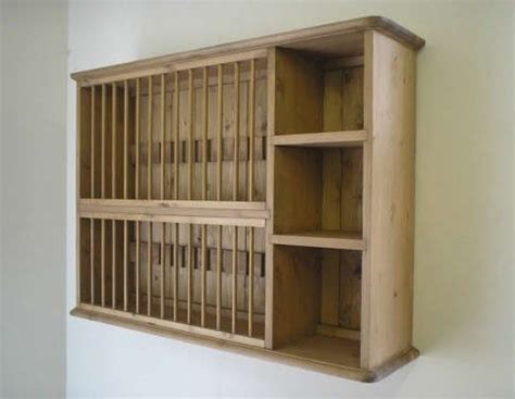 country pine universal wall plate rack remodelista