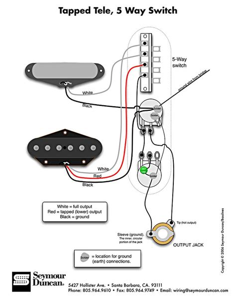 tele wiring diagram tapped with a 5 way switch electric