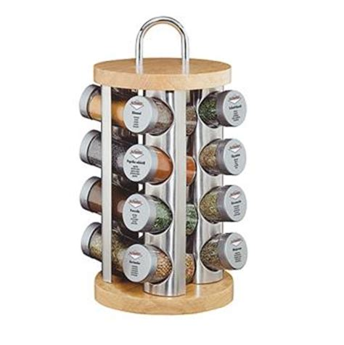 ensemble de couteaux de cuisine etagère caroussel 16 épices base bois kuchenprofi la