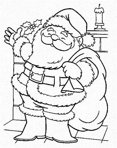 Santa Coloring Claus Pages Town Christmas Coming