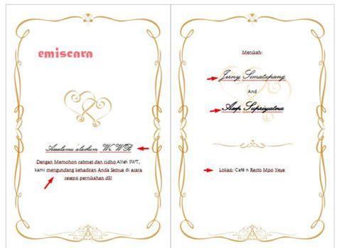 membuat contoh undangan pernikahan sederhana
