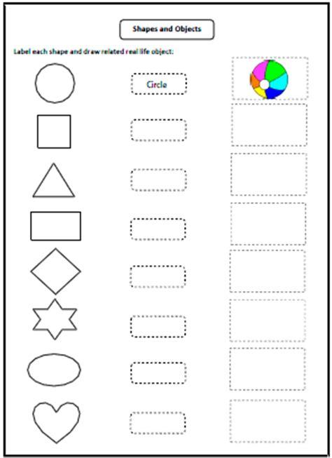 shapes worksheets  charts