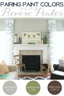 Color Coordination For Living Room by Pairing Paint Colors With Revere Pewter The Turquoise Home