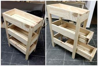 tutorial pallet storage bin project  pallets