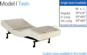 adjustable twin bed craftmatic 174 adjustable beds