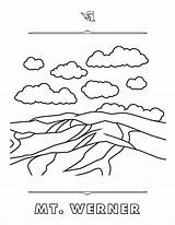 Coloring Steamboat Pages Rich Text Werner Mount Mountain sketch template