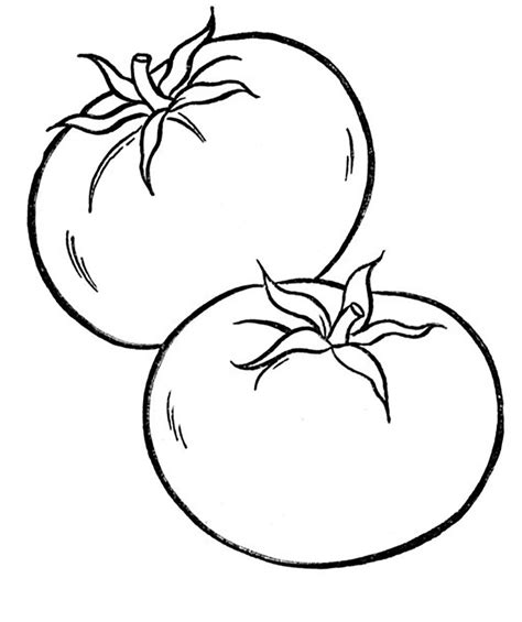 Coloring Vegetable by Vegetables Tomato Vegetable Coloring Pages
