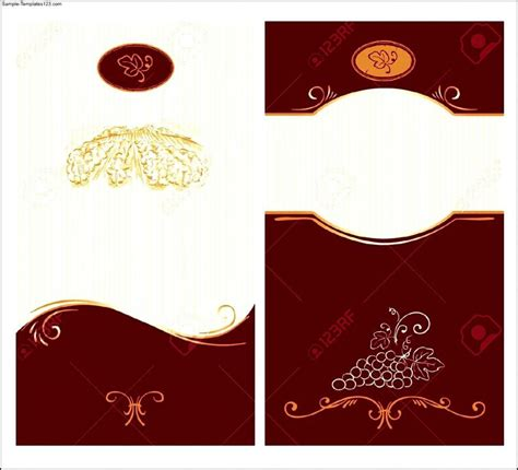 Wine Label Template Wine Label Template Template Business
