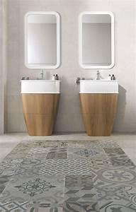 Carrelage Et Salle De Bain : carreaux et carrelage dans la salle de bains 7 id es c t maison ~ Melissatoandfro.com Idées de Décoration