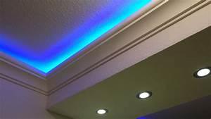Led Indirekte Deckenbeleuchtung : indirekte deckenbeleuchtung mit led stuckleisten und lichtvouten ~ Watch28wear.com Haus und Dekorationen