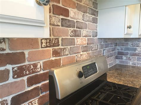 brick kitchen tiles do it yourself brick veneer backsplash remington avenue 1794