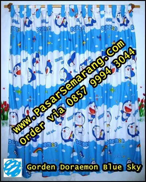 sprei motif sky blue jual gorden doraemon pasarsemarang