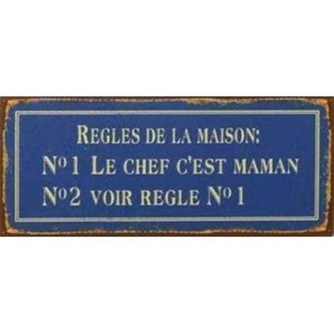 humour poster plaque en m 233 tal regles de la maison no1