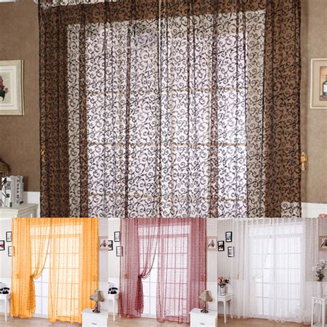 2016 sheer tulle curtain panels modern window treatments