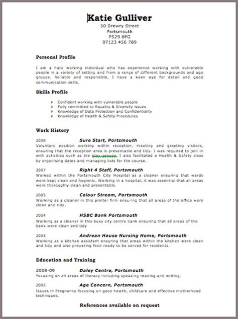 It Cv Template Word by Cv Word Template Uk