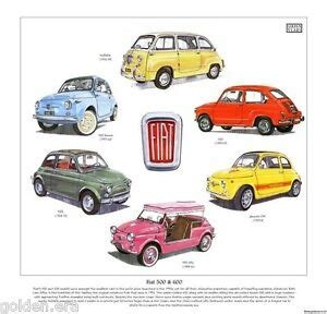 Classic Fiat 500 Parts by Classic Fiat 500 600 Print Includes 595