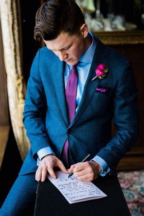 colour combination   grooms suit