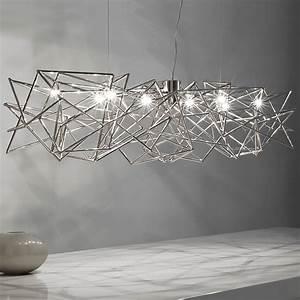Modern geometric silver pendant light