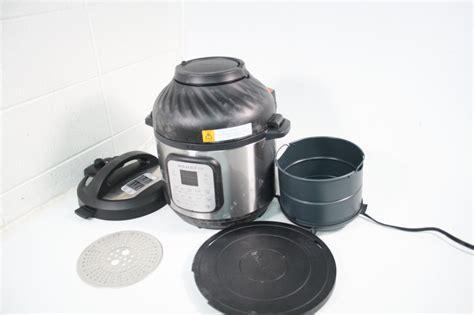 fryer pot instant air qt pressure cooker combination stainless steel lid handle