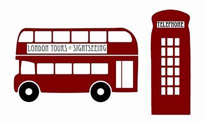 Bus Clipart London Decker Double Transparent Scrapbook
