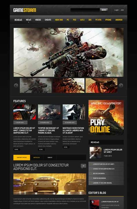 Best Gaming Website Templates Freshdesignweb