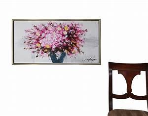 ölgemälde Blumen In Vase : original lgem lde stilleben blumen vase gem lde mit holz rahmen 84cm moderne aubaho ~ Orissabook.com Haus und Dekorationen