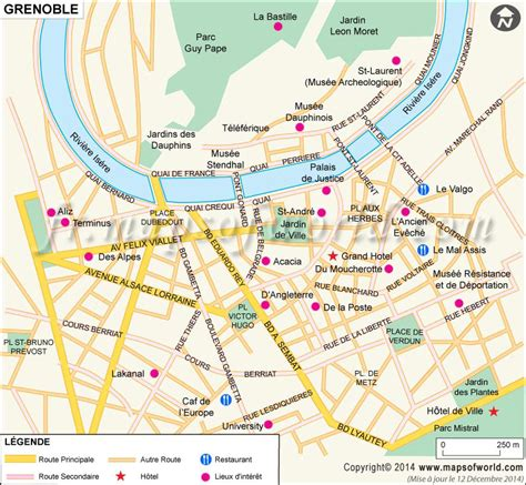grenoble carte carte de la ville de grenoble france