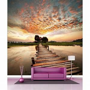 Papier Peint Geant : papier peint g ant d co ponton 250x250cm art d co stickers ~ Premium-room.com Idées de Décoration
