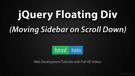 Floating Div Css by Jquery Floating Div Sidebar On Scroll
