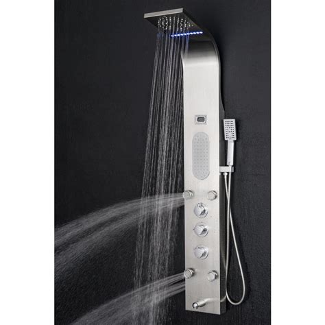 Shower Jet System by Akdy 65 In 8 Jet Rainfall Shower Panel System With