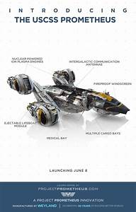 Awesome Diagram Of The Uscss Prometheus Space Craft
