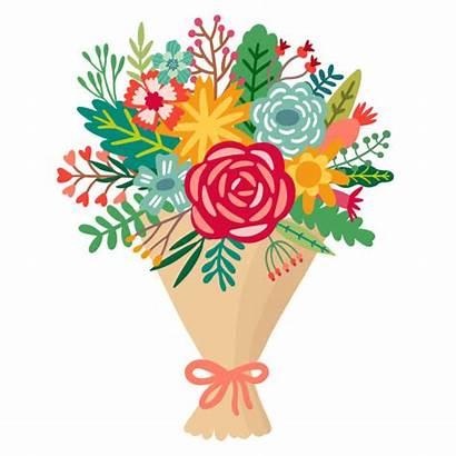 Bouquet Bunch Flower Vector Floral Illustration Flowers
